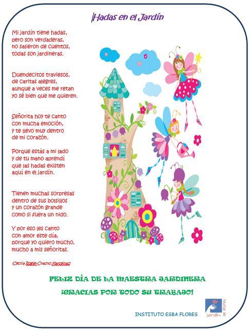 Efem rides esba flores for Cancion de bienvenida al jardin